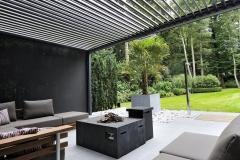 Palm pergola LED strip structuur 2