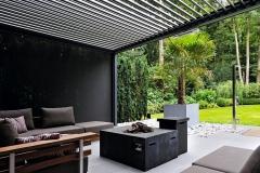 Palm pergola LED strip structuur 3