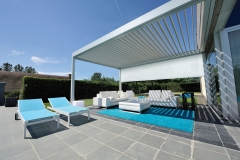 Poolhouse Mint 2 screen LED strip structuur