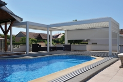 Swimming Pool L-shape LED strip structuur 1